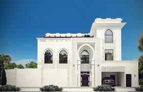 Arch Design White Modern Islamic Villa Exterior Design Jeddah Saudi