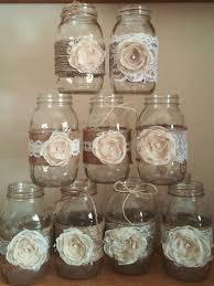 Mason Jar Decorations Mason Jar Centerpieces Rustic Mason Jars Wedding