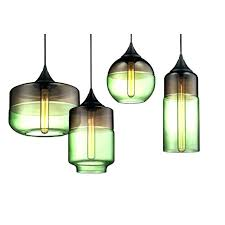 green glass pendant light green seeded glass pendant light
