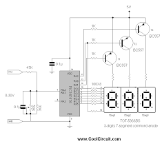 3 digits digital volt meter cool circuit schematic