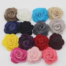 60pcs lot 5cm imitation mink velvet multilayer roses flowers felt back rosettes diy flower for