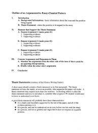 simple argumentative essay outline