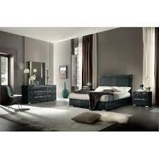 gray bedroom set. 7pc:kjvr/versilia6/6 dark gray modern 6 piece king bedroom set -