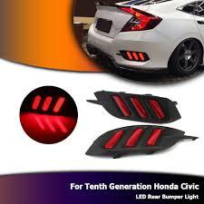 Civic Rear Bumper Light Us 78 53 23 Off Novsight Auto Car Led Daylight For Honda 10th Civic 2016 Mustang Brake Tail Light Rear Bumper Fog Lamp Red D20 In Car Light Assembly