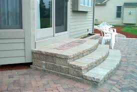 brick paver patio steps patio steps how to build steps patio i on how to lay