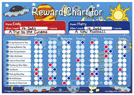 children rewards charts space theme child girls boys reward chart