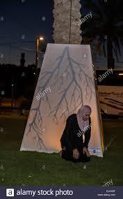 Woman Sculpture Light Jerusalem Israel A Muslim Woman Kneels In Prayer Near A
