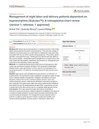 Buprenorphine Conversion Chart Pdf Management Of Eight Labor And Delivery Patients
