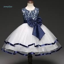 JaneyGao 2019 <b>New Arrival Flower</b> Girl Dresses With Bow Blue ...