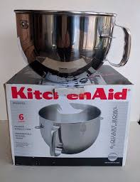 KitchenAid KN2B6PEH Stainless Steel 6 Quart Bowl Stand Mixer Accessory In Box KitchenAid