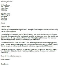 Catering Cover Letter - Koto.npand.co