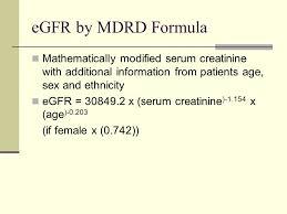33 egfr by mdrd formula