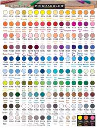 150 Prismacolor Pencils Chart Prismacolor Premier Colored Pencil Color Chart In 2019