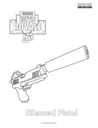 Fortnite Weapon Coloring Pages Pictures To Pin On Slidehdco