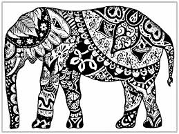 Small Picture Adult Coloring Pages Elephant coloring page