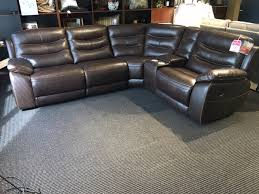 clearance leather power reclining sectional