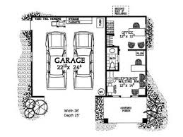 garage plans with office. Floor Plan, 057G-0030 Garage Plans With Office L
