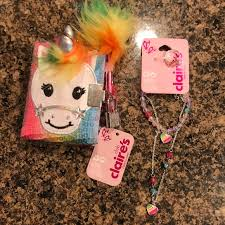 claire s kids unicorn notebook jewelry set