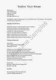 Resume Tutor Resume Sample
