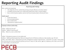 It Audit Findings Report Template Format Perfect External