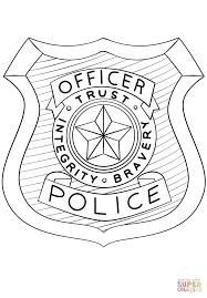 Disegno Di Distintivo Di Polizia Da Colorare Disegni Da Colorare E