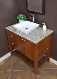 Tuscany 31 W X 22 D Granite Vanity Top With Vessel Cutout At Menards