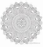 Салфетка рисунок вязания
