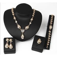 women s jewelry set chain bracelet stud