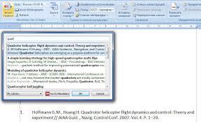Автоматизация создания и редактирования списков использованных  Добавление ссылки на литературу с помощью плагина для ms word