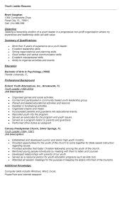 resume for youth pastor by resume youth group leader resume samples uva  career center youth -
