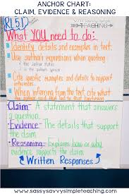 The Best Anchor Charts Evidence Anchor Chart Anchor