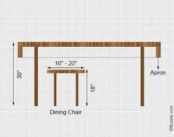 Dining Room Table Height Amusing Design Rectangular Dining Table - Standard size dining room table