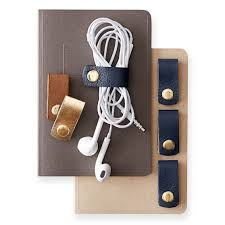 Leather Cord Organizer, Set of 4