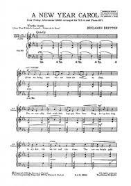 Britten A New Year Carol Page 1 Of 1 Presto Sheet Music