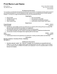 My Resume Template Extraordinary Generic Resume Template LiveCareer