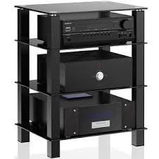 tv component stand.  Component Image Is Loading 4TierBlackGlassMediaComponentStandAudio For Tv Component Stand