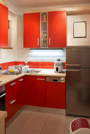 charming gloss red kitchen cabinets with unique breakfast table sets as well as interior