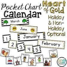 Black Classroom Calendar Pocket Chart Pocket Chart Calendar Cards Black And Gold Classroom Decor Calendar Set