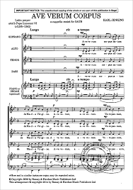 ave verum corpus sheet music ave verum corpus from karl jenkins buy now in our stretta sheet