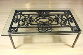 wrought iron coffee table base coffee iron glass top coffee table french wrought iron and glass