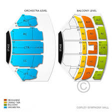 Copley Hall Seating Chart Copley Symphony Hall Tickets