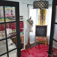 colorful craft room office by the diy mommy