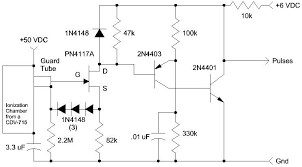 ion chambers the 3 3 uf can be any value above 1 uf and it connects between circuit ground and the case remember the case is at 50 volts