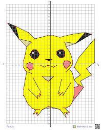 30 Drawn Pikachu Graph Paper Free Clip Art Stock