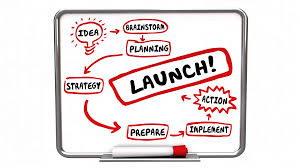 Launch Plan Strategy Workflow Diagram Animated Motion Background