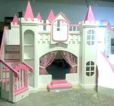 castle bed plans princess loft wood playhouse with free slide tent playhouse plans