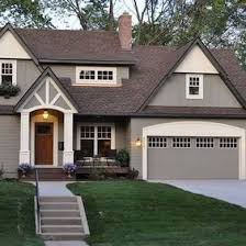 exterior paint colors with brown roof. love these exterior colorsbrown roof with gray and cream house colors paint s