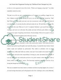 essay my life narrative essay event changed my life essay air resistance