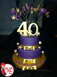 40th Birthday Cake She Who Bakes