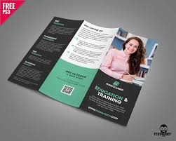 Education Trifold Brochure Psd Template | Psddaddy.com